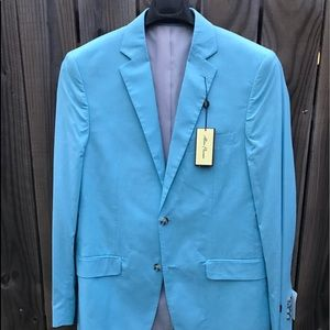 Alan Flusser 40L men's cotton sportscoat NWT
